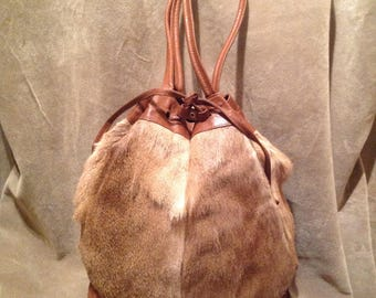 1950s / 60s Real Fur Bucket Bag / Purse