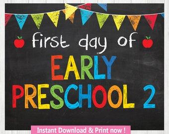 Early Preschool 2, Back to School INSTANT DOWNLOAD