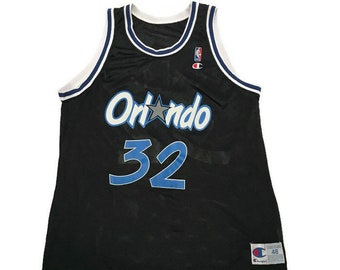 Vintage Shaquille O'Neal Orlando Magic Basketball Jersey NBA By Champion Size 48 / XL
