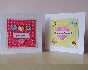 cat birthday card, friend birthday, card for mum, sister birthday, girl birthday, cat card, wife birthday, card for girlfriend,