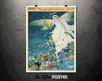 Vogue - Brides and Butterflies - May 1913 - Fashion Poster, Vogue Print, Fashion Print, Gift Woman, Vogue Magazine, Womens Fashion