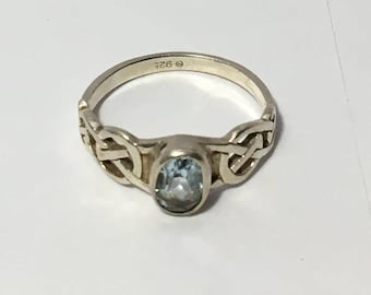 vintage celtic silver ring