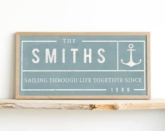 Anniversary Gift - Family Name Print - Custom Name Print - Last Name - Established Print - Wedding Gift - Custom Gift - Housewarming Gift