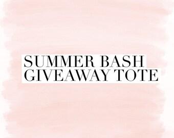 Summer Bash Giveaway Tote
