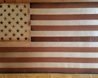 Wooden United States Flag (American flag, Rustic flag)