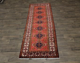 Beautiful Handmade Hallway Hamedan Persian Rug Oriental Area Carpet 3ʹ5X10ʹ7