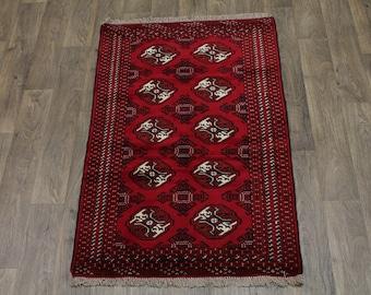 Great Shape Handmade Ghoochan Turkoman Persian Area Rug Oriental Carpet Sale 3X5
