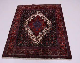 Geometric Unique Design Handmade Bidjar Persian Rug Oriental Area Carpet 4X5