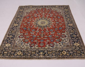 9X12 Great Shape Signed Najafabad Persian Rug Oriental Area Carpet 8'7X11'9