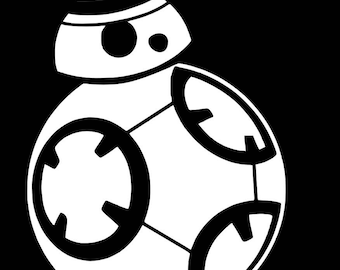 Brand new bb8 droid astromech droid Star Wars robot vinyl decal FREE SHIPPING