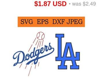 Sale 25%  -  Los Angeles Dodgers logo in SVG / Eps / Dxf / Jpg files INSTANT DOWNLOAD!