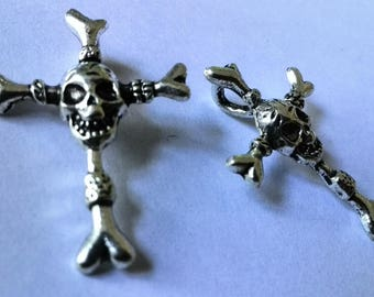 Dread beat, dread bead, hair accessories, Pearl for dreadlocks, cross with skull