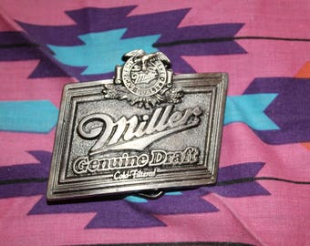 Vintage Miller Belt Buckle // Miller Light Belt Buckle // Miller Beer Belt Buckle // Miller Beer // Vintage Miller Beer // Beer belt buckle