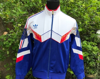 Vtg adidas 80s track and field Sweater Made in Japan