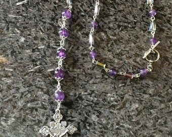 Car Rosary, Vehicle Rosary, Travel Rosary, One Decade Rosary, Personal Rosary, Chaplet, RearView Mirror Rosary