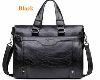 Men Casual Briefcase Business Shoulder/ Leather Messenger /Bag