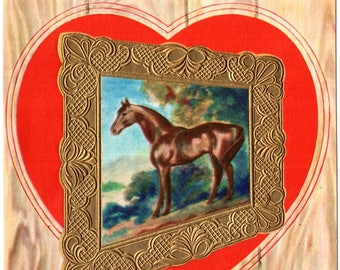 Horse To Son Wish Vintage Valentine's Day Greeting Card 1960's