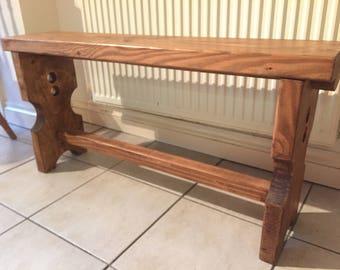 Handmade Shoe Bench - solid rustic