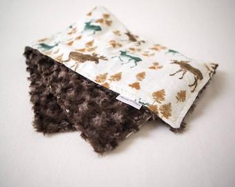 Woodland ~ Moose ~ Faux Fur Minky ~ Baby Blanket ~ Toddler blanket