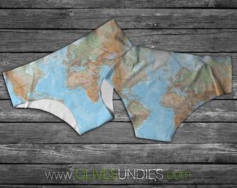 Travel the World Underwear / Globe Knickers