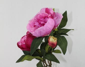 Peony Spray with 3 stems