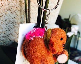 Elephant keyring  /zipper charm. Gift accessories .