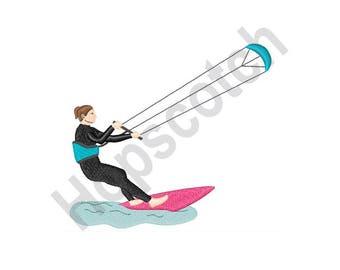 Kite Surfing - Machine Embroidery Design