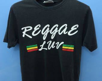 Vintage Rasta Smoke Weeds T Shirt Street Wear Swag Top Tee