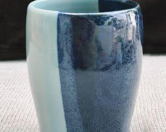 Handmade Two-Tone Blue Tumbler