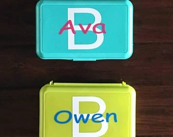Back To School Decals - Pencil Box Decals - Personalized - Monogram - Kids Pencil Box Decals