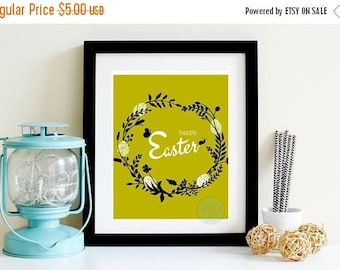 Easter eggs poster etsy 15 off sale printable art easter wall poster easter dinner gift for easter easter negle Images