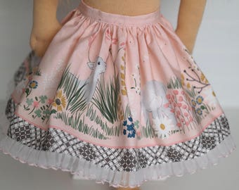 Pink lamb and lace DOLL skirt