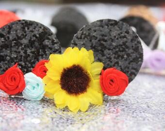 Sunflower Mickey Hair Clip
