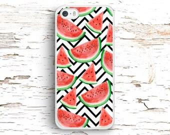 Watermelon Chevron case for iPhone 7 6S 6 SE 5S 5 5C 4S, Samsung Galaxy S6 Edge S5 S4 S3, LG G4 G3, Sony Xperia Z5 Z3, HTC One M8