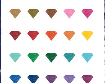 Jewel Gem Shapes Digital Download Clipart