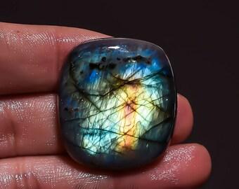 Natural Multi-color Labradorite Gemstones, Labradorite Cabochon, Smooth Multi-color Labradorite Loose Gemstone wholesale shop Z-4106