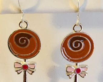 Circle Swirl Lollipop Sweet Earrings