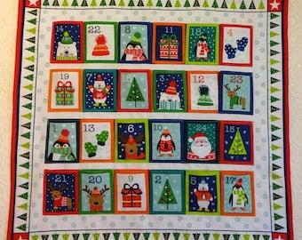 Advent Calendar,Advent Calender,Reusable Calendar,Child Holiday Countdown,Heirloom Advent Calendar,Wall Hanging Advent,Countdown Calendar