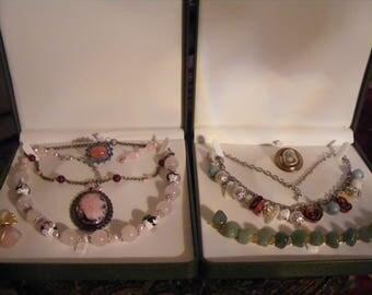 Mix Lot Of Vintage Costume Jewellery