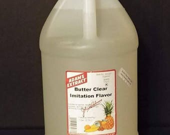 Adams Extract Butter Clear Imitation Flavor 1 Gallon