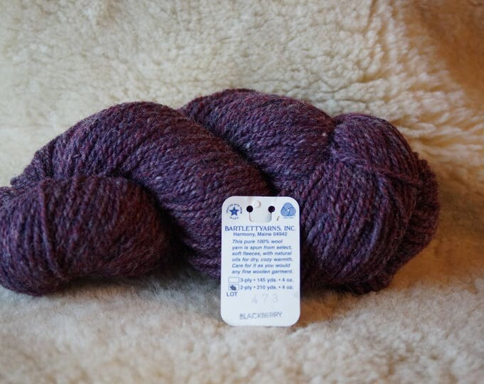 BLACKBERRY 2 ply worsted weight wool yarn from Bartlettyarn sale