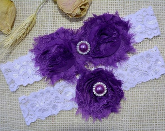 Dark Purple Garter, Wedding Garter Purple, Lace Wedding Garter, Lace Garter Set, Bridal Garter, Wedding Garter Set, Gift, Bridal Lace Garter