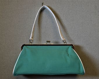 Lightweight Fabric Handbag Summer Handbag Green Handbag