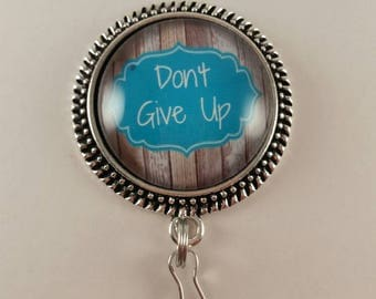 "JW Convention Magnetic Badge Card Holder ""Don't Give Up"""