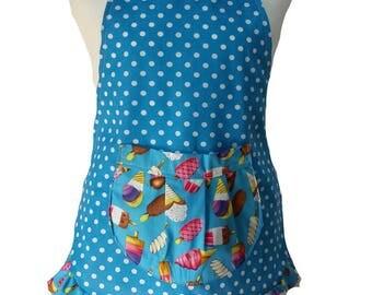 vintage or retro kids kitchen apron