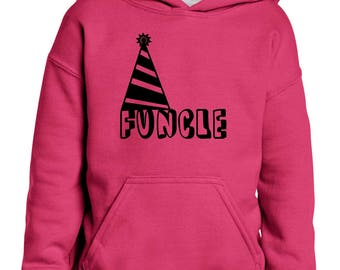 Funcle Fun Uncle Christmas Birthday Fathers Day Gift Match with Hats Jeans Shoes Girls Boys Youth Kids Hoodie