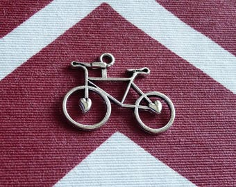 Bicycle  Charms, Bike Charms, Bicycle Necklace Pendants Charms, Silver Tone Bike Charms, Sport Charms