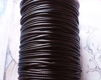 Brown Cord, 1.5mm Brown Waxed Cord,  Round Cord, Waxed Corduroy Necklace Cord, Bracelet Cord, Beading Supplies (CC11)