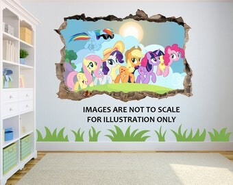 My Little Pony 3D Effect Graphic Wall Vinyl Sticker Decal D3