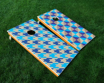 FREE US Shipping | Houndstooth-Themed Cornhole Board Decals
